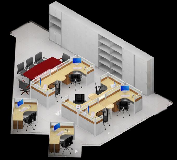 青岛办公家具图纸设计